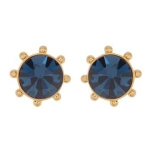 NEW Kate Spade Bezel Set Crystal Stud Earrings